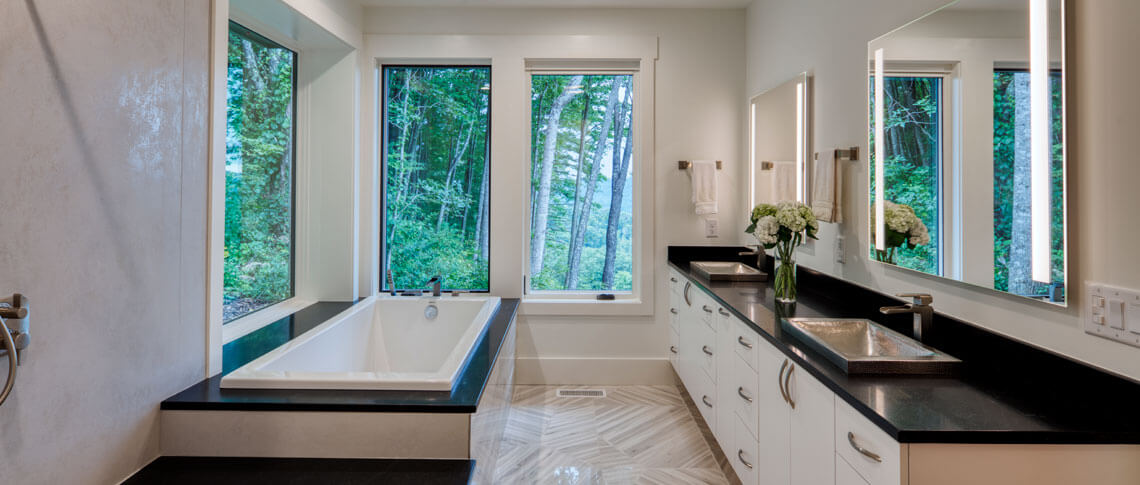 Remodeled bathroom, Sineath Construction