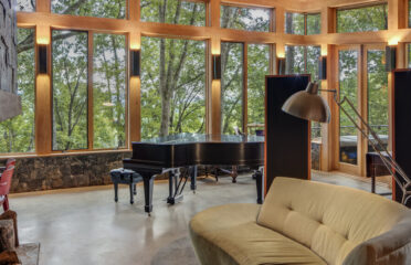 Inspired custom built home inspired by Frank Lloyd Wright