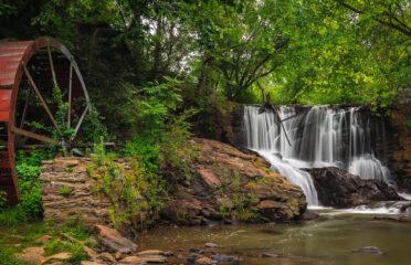 Waterfall at Lake Louise (Weaverville, North Carolina by Ken Lane